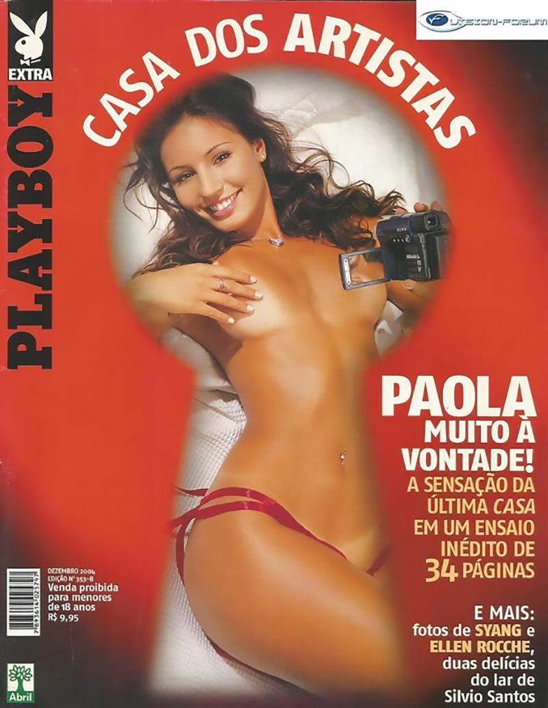 Paola Rodrigues Pelada Na Playboy Famosas Do SBT-1