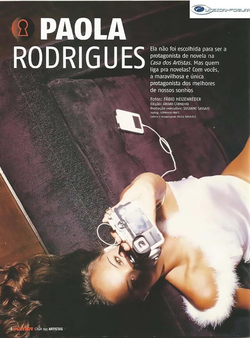 Paola Rodrigues Ex-Casa dos Artistas Pelada Na Playboy Dezembro De 2004