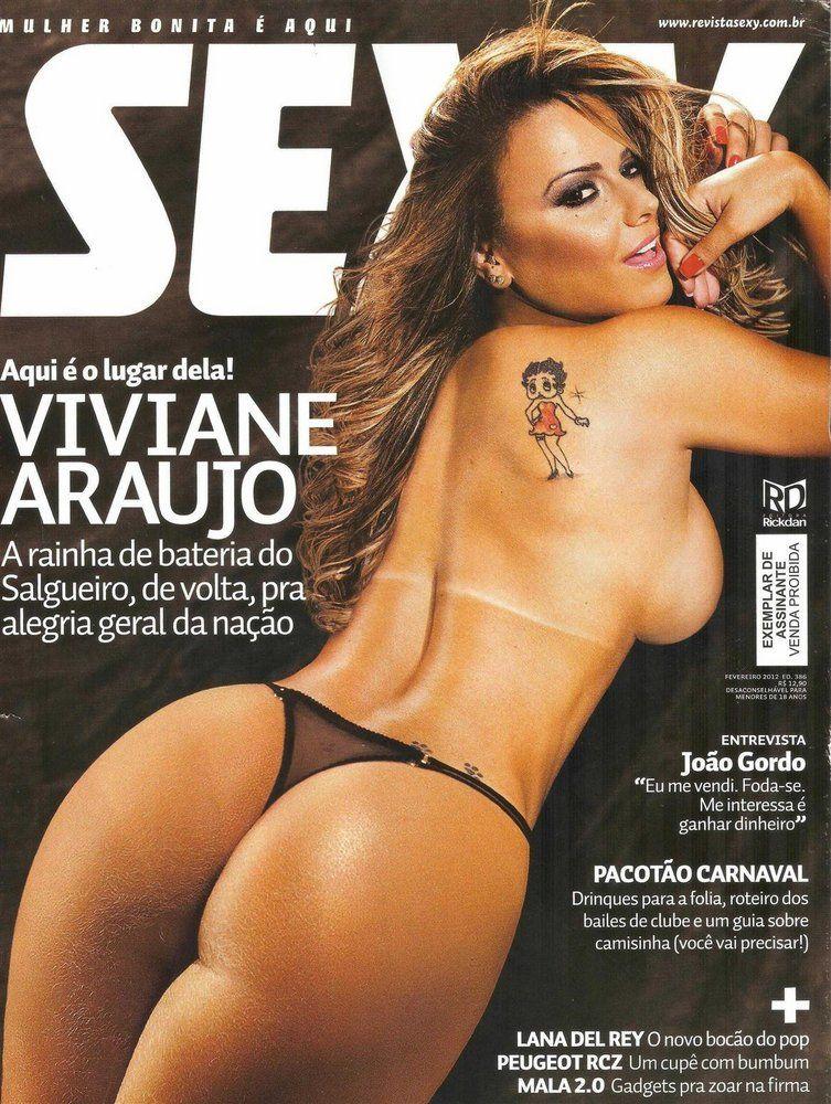 Viviane Araújo Pelada Na Playboy