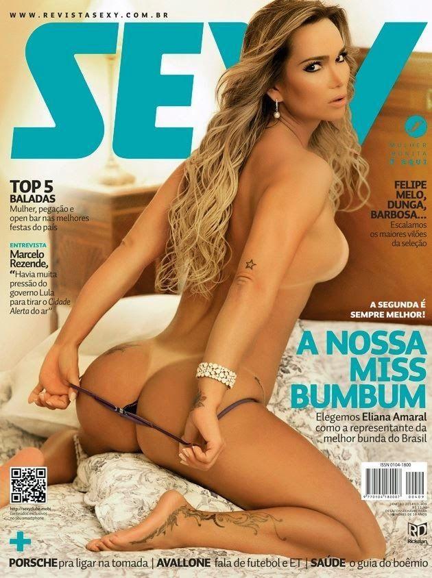 Eliana Amaral nua exibindo sua bela buceta na Sexy Clube