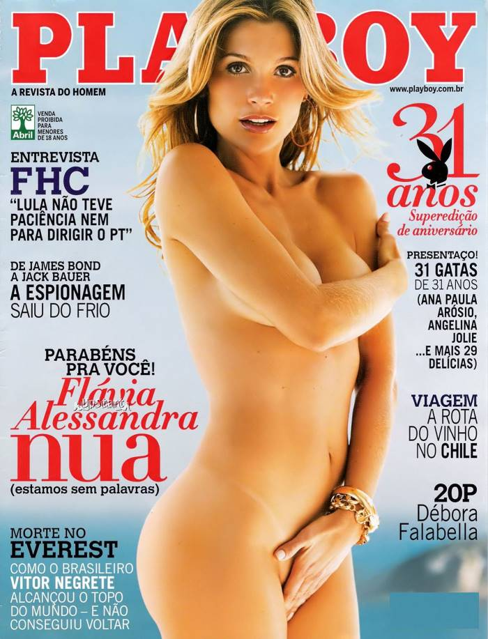 Flavia Alessandra nua