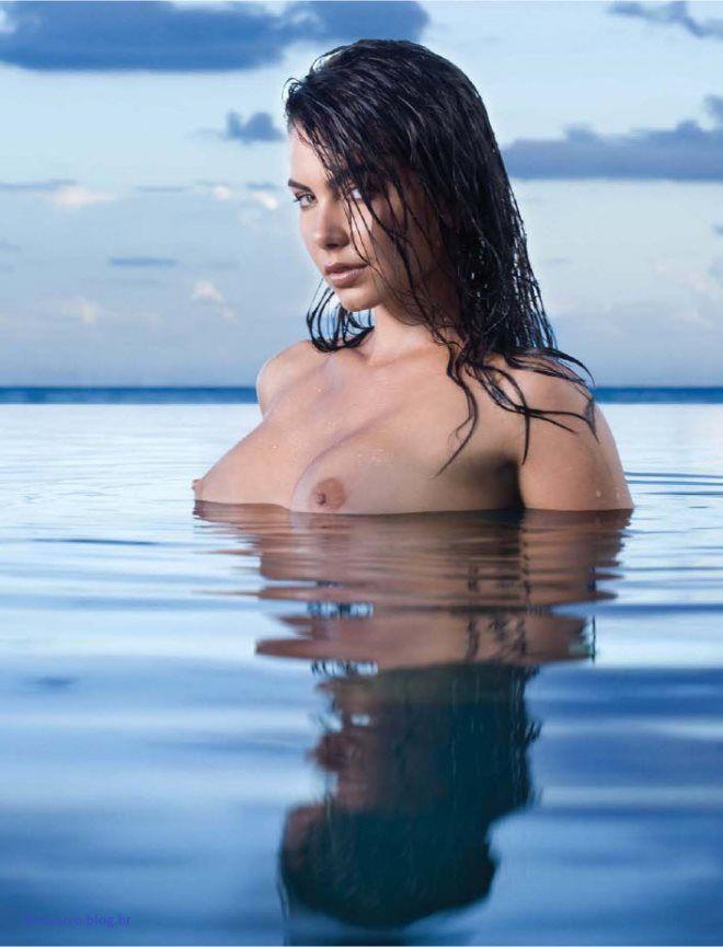 Letícia Wiermann, filha do Datena pelada na Playboy