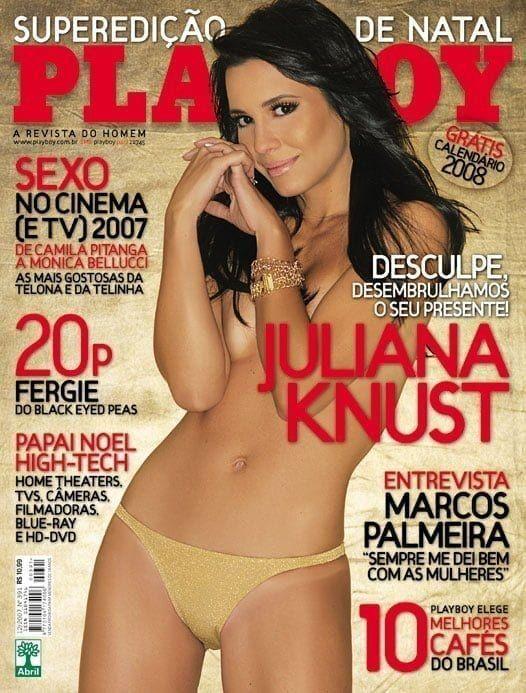 Juliana Knust, atriz da Globo pelada nua na Playboy Dezembro 2007